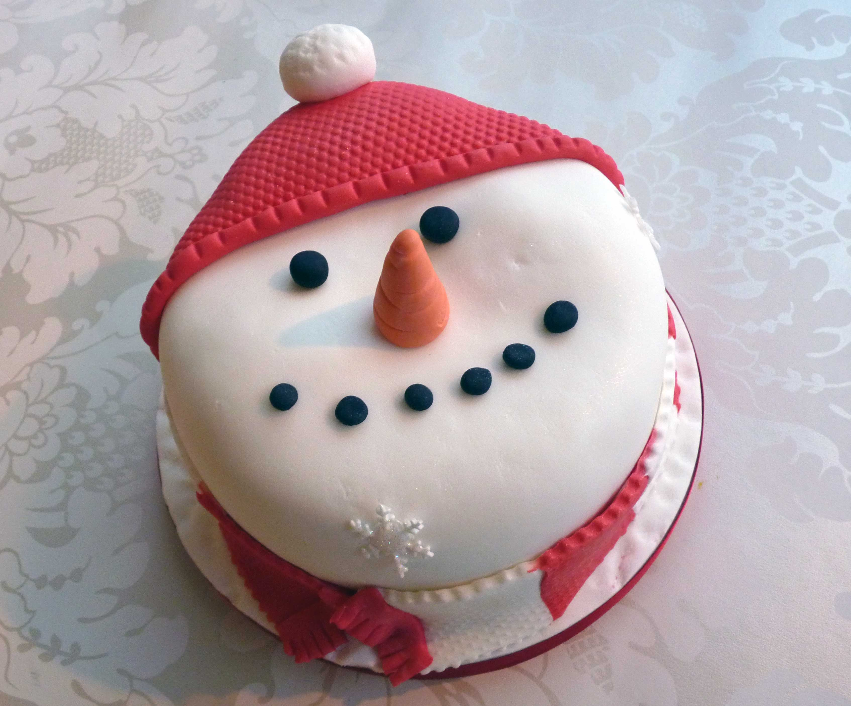 Snowman Christmas Cake Decorations